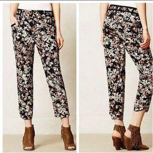 Cartonnier Nassella Black Floral Crop Jogger Pants